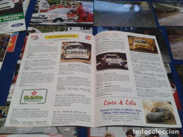 Coleccionismo deportivo: GUIA RALLY DE PORTUGAL 1994 ( RALI GUIA COMPLETO ) HORARIOS - TRAMOS - PILOTOS - MARCAS - Foto 11 - 171456354