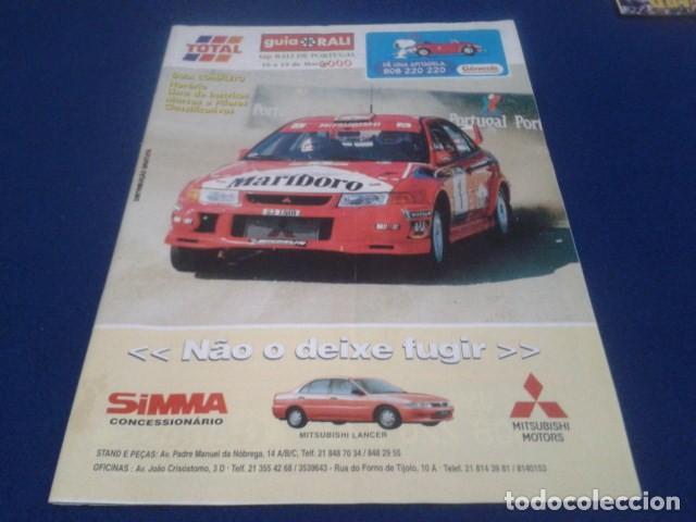 REVISTA GUIA TAP ( RALLY DE PORTUGAL ) DEL 16 AL 19 DE MARZO 2000 INSCRITOS - PALMARES - EQUIPOS (Coleccionismo Deportivo - Revistas y Periódicos - otros Deportes)