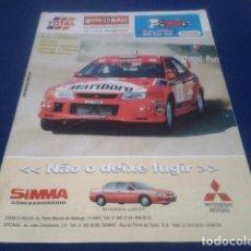 Coleccionismo deportivo: REVISTA GUIA TAP ( RALLY DE PORTUGAL ) DEL 16 AL 19 DE MARZO 2000 INSCRITOS - PALMARES - EQUIPOS. Lote 171638885