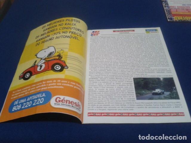 Coleccionismo deportivo: REVISTA GUIA TAP ( RALLY DE PORTUGAL ) DEL 16 AL 19 DE MARZO 2000 INSCRITOS - PALMARES - EQUIPOS - Foto 3 - 171638885