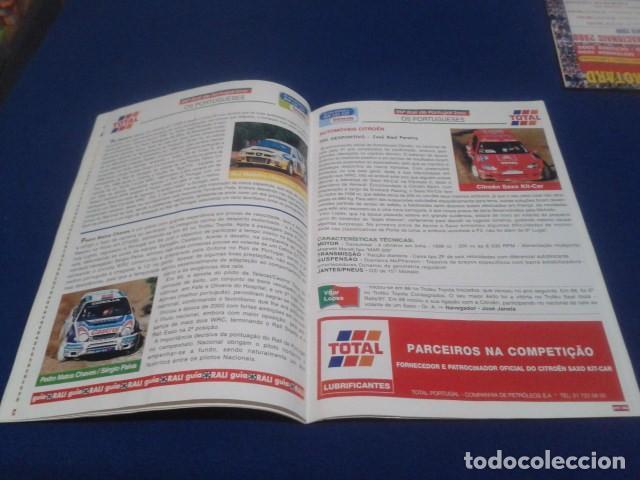 Coleccionismo deportivo: REVISTA GUIA TAP ( RALLY DE PORTUGAL ) DEL 16 AL 19 DE MARZO 2000 INSCRITOS - PALMARES - EQUIPOS - Foto 11 - 171638885