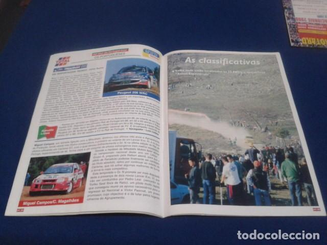Coleccionismo deportivo: REVISTA GUIA TAP ( RALLY DE PORTUGAL ) DEL 16 AL 19 DE MARZO 2000 INSCRITOS - PALMARES - EQUIPOS - Foto 12 - 171638885