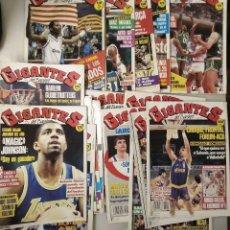 Coleccionismo deportivo: LOTE DE 37 (+6) REVISTAS ESPAÑOLAS ''GIGANTES DEL BASKET'' (1985-1991) - ACB/NBA. Lote 171718003