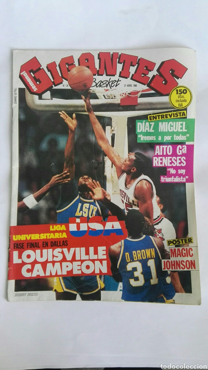 GIGANTES DEL BASKET ABRIL 1986 (Coleccionismo Deportivo - Revistas y Periódicos - otros Deportes)