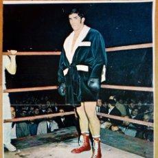 Coleccionismo deportivo: POSTER - URTAIN - (1971) LÁMINA OBSEQUIO GACETA JUNIOR - ASES DEL DEPORTE - BOXEO. Lote 172360889