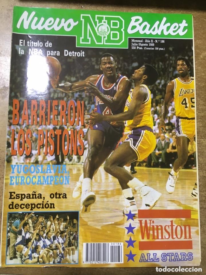 Coleccionismo deportivo: LOTE 14 REVISTAS NUEVO BASKET - 1987 - 1991 - Foto 2 - 172685104