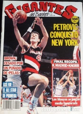 GIGANTES DEL BASKET Nº228 MARZO 1990 PETROVIC (Coleccionismo Deportivo - Revistas y Periódicos - otros Deportes)