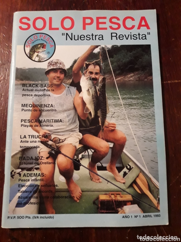 REVISTA SOLO PESCA BLACK BASS TRUCHA MARITIMA ORELLANA BADAJOZ AÑO 1 NUMERO 1 1993 (Coleccionismo Deportivo - Revistas y Periódicos - otros Deportes)