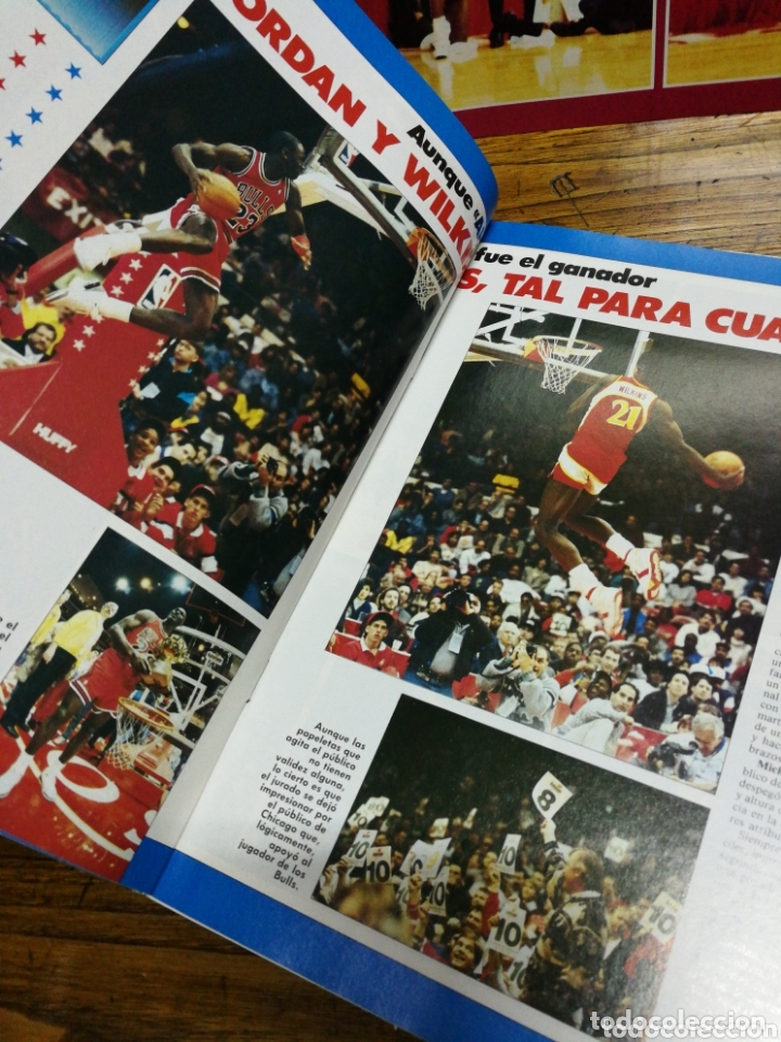 Coleccionismo deportivo: REVISTA GIGANTES DEL BASKET- PORTADA MICHAEL JORDAN, EXTRA ALL STAR+ POSTER CENTRAL- N°120, 1988. - Foto 4 - 173383495