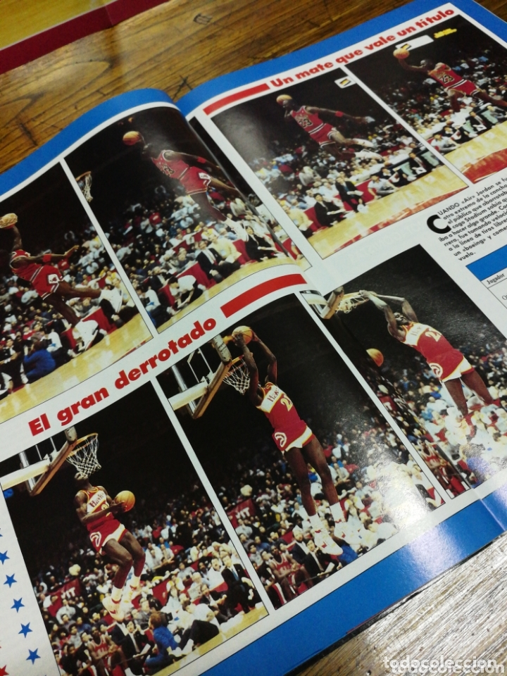 Coleccionismo deportivo: REVISTA GIGANTES DEL BASKET- PORTADA MICHAEL JORDAN, EXTRA ALL STAR+ POSTER CENTRAL- N°120, 1988. - Foto 5 - 173383495