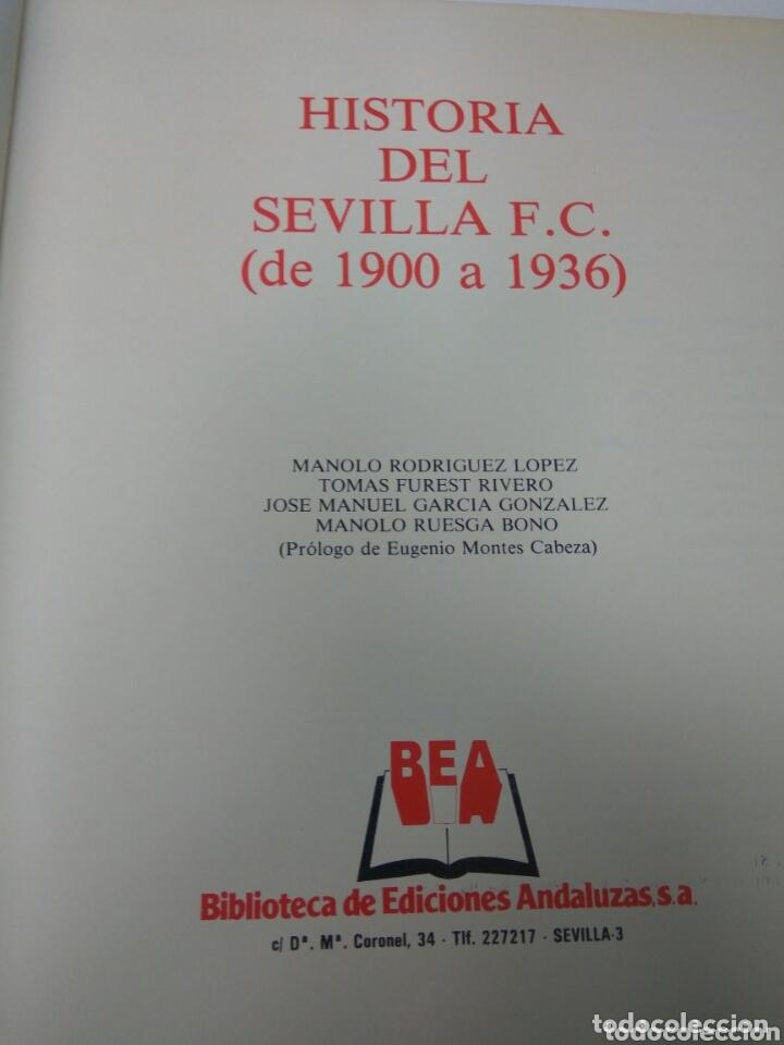 Coleccionismo deportivo: FÚTBOL HISTORIA DEL SEVILLA F.C. 1900-1936 - Foto 2 - 173440819