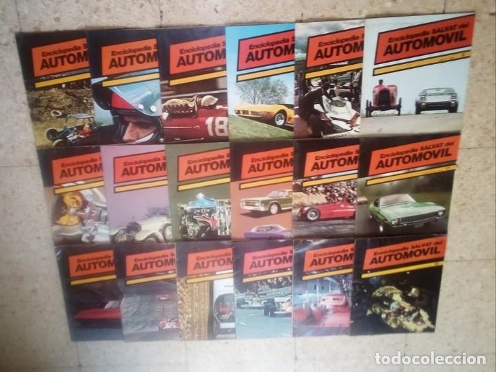 1974.LOTE 36 REVISTAS : ENCICLOPEDIA DEL AUTOMOVIL,SALVAT.1974.( VER FOTOS) (Coleccionismo Deportivo - Revistas y Periódicos - otros Deportes)