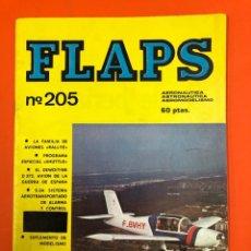 Coleccionismo deportivo: FLAPS Nº 205 - REVISTA AERONAUTICA, AEROMODELISMO Y ASTRONAUTICA 1959 - DE DISTRIBUIDORA SIN LEER. Lote 173932534