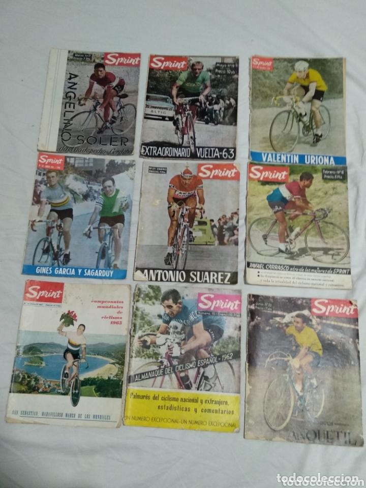 LOTE ANTIGUAS 9 REVISTAS SPRINT AÑOS 64-65 ECT (Coleccionismo Deportivo - Revistas y Periódicos - otros Deportes)