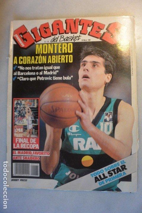 REVISTA BALONCESTO GIGANTES DEL BASKET. MONTERO JOVENTUT . Nº 176-1989 (Coleccionismo Deportivo - Revistas y Periódicos - otros Deportes)