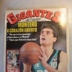 Coleccionismo deportivo: REVISTA BALONCESTO GIGANTES DEL BASKET. MONTERO JOVENTUT . Nº 176-1989. Lote 174306668