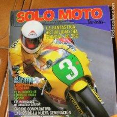 Coleccionismo deportivo: REVISTA SOLO MOTO TREINTA ,N,42. Lote 174347480