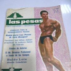 Coleccionismo deportivo: REVISTA CULTURISMO. LAS PESAS. Nº 56. 1968. RARA. ORIGINAL. BUEN ESTADO.. Lote 175012099