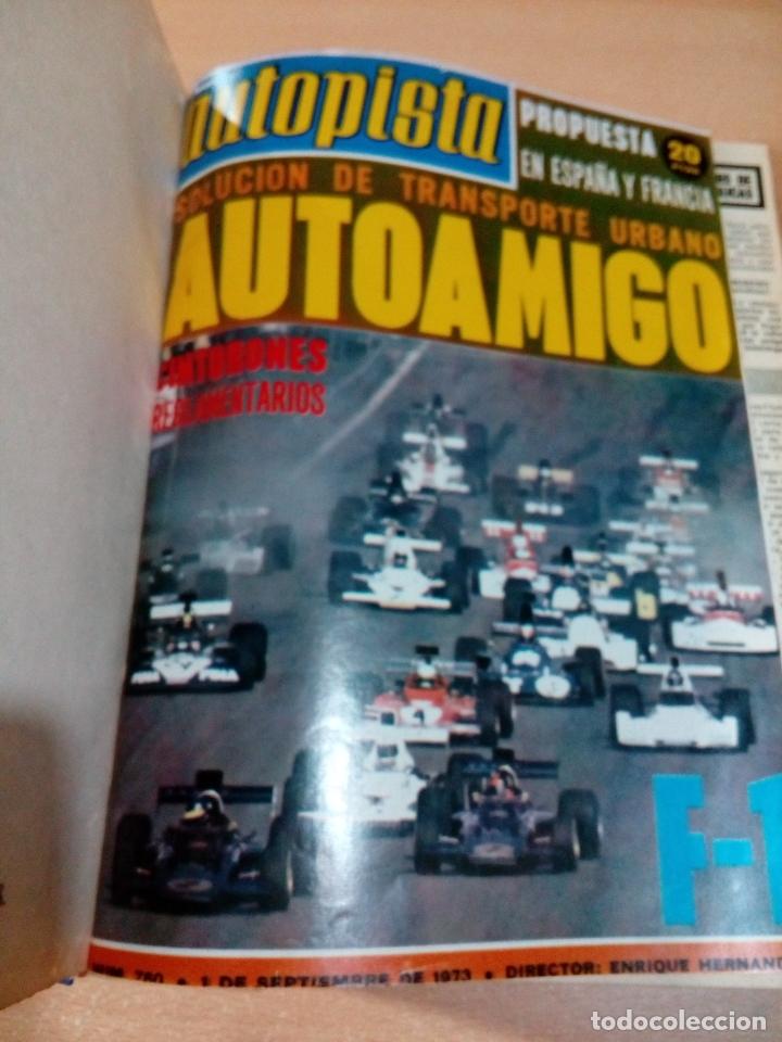Coleccionismo deportivo: Revista autopista - Lote 18 revistas 1973 encuadernada correlativas - ver fotos - leer - Foto 3 - 175818835