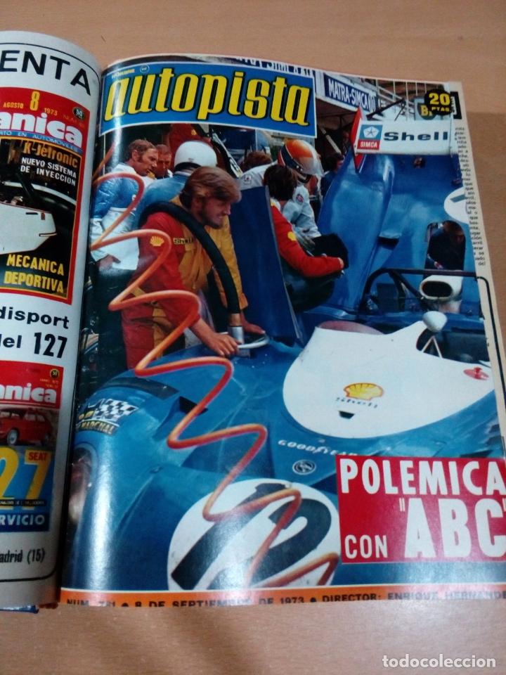 Coleccionismo deportivo: Revista autopista - Lote 18 revistas 1973 encuadernada correlativas - ver fotos - leer - Foto 6 - 175818835