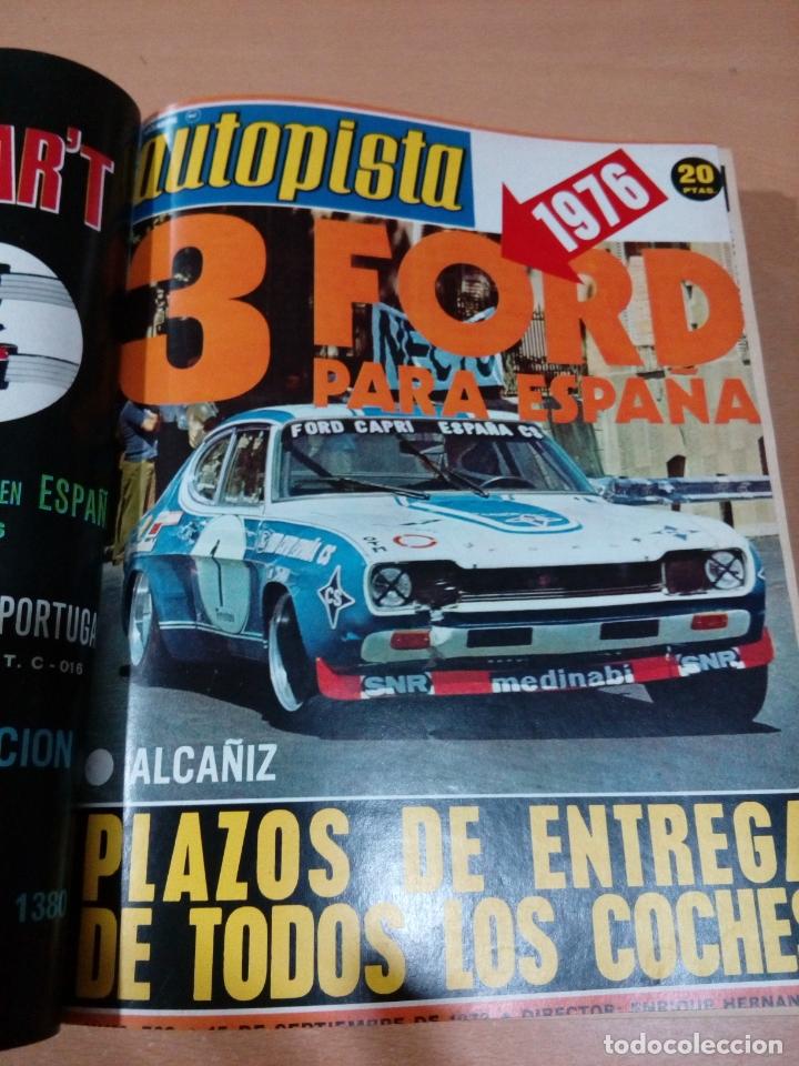 Coleccionismo deportivo: Revista autopista - Lote 18 revistas 1973 encuadernada correlativas - ver fotos - leer - Foto 7 - 175818835