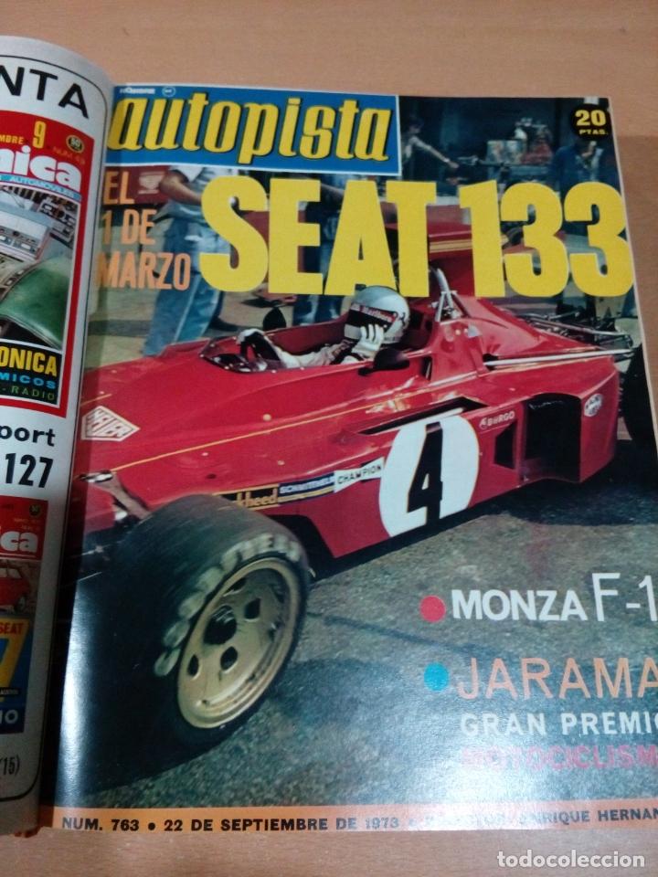 Coleccionismo deportivo: Revista autopista - Lote 18 revistas 1973 encuadernada correlativas - ver fotos - leer - Foto 8 - 175818835