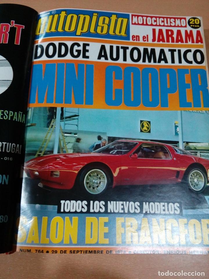 Coleccionismo deportivo: Revista autopista - Lote 18 revistas 1973 encuadernada correlativas - ver fotos - leer - Foto 9 - 175818835