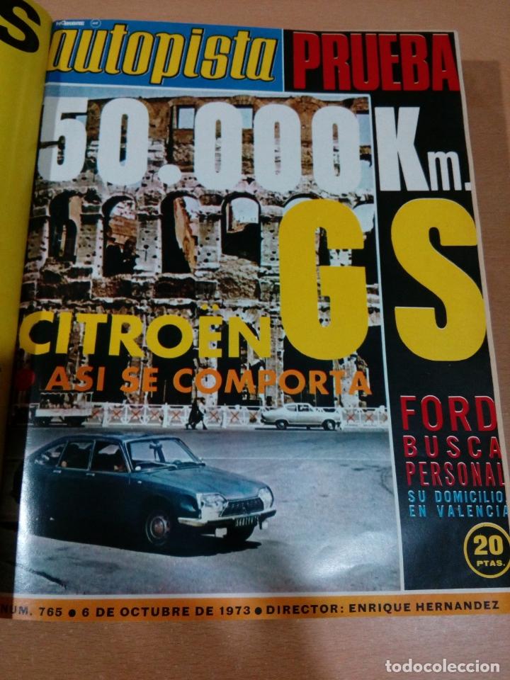 Coleccionismo deportivo: Revista autopista - Lote 18 revistas 1973 encuadernada correlativas - ver fotos - leer - Foto 10 - 175818835