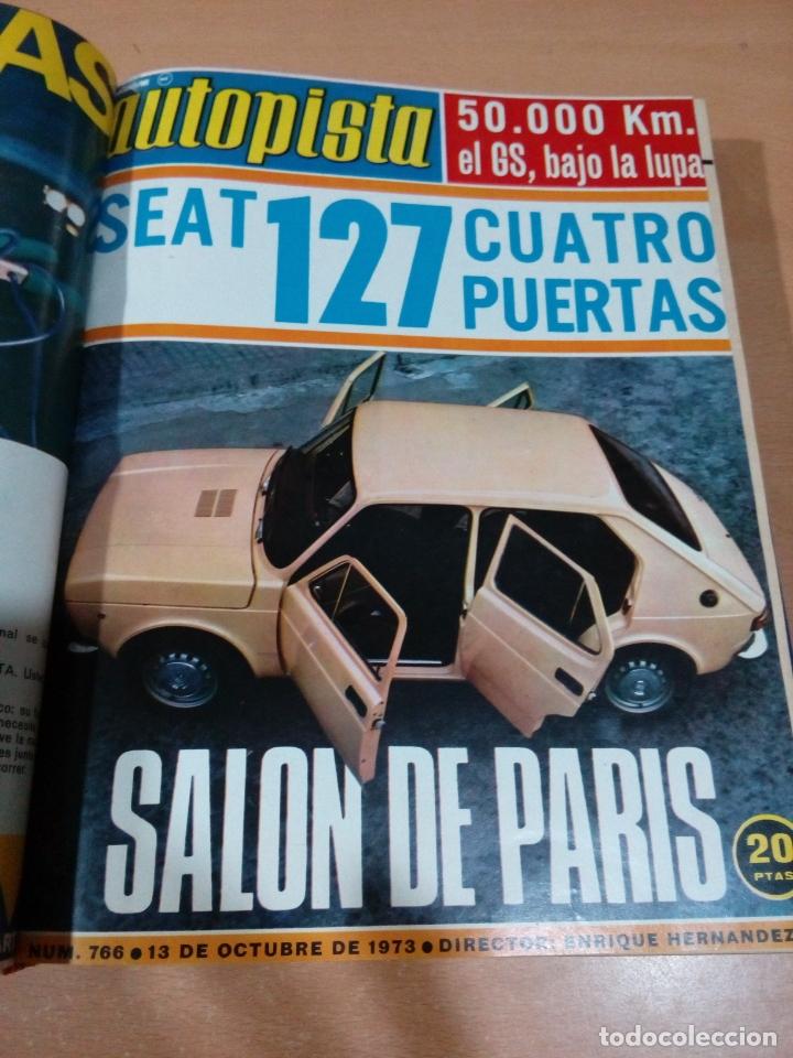 Coleccionismo deportivo: Revista autopista - Lote 18 revistas 1973 encuadernada correlativas - ver fotos - leer - Foto 11 - 175818835