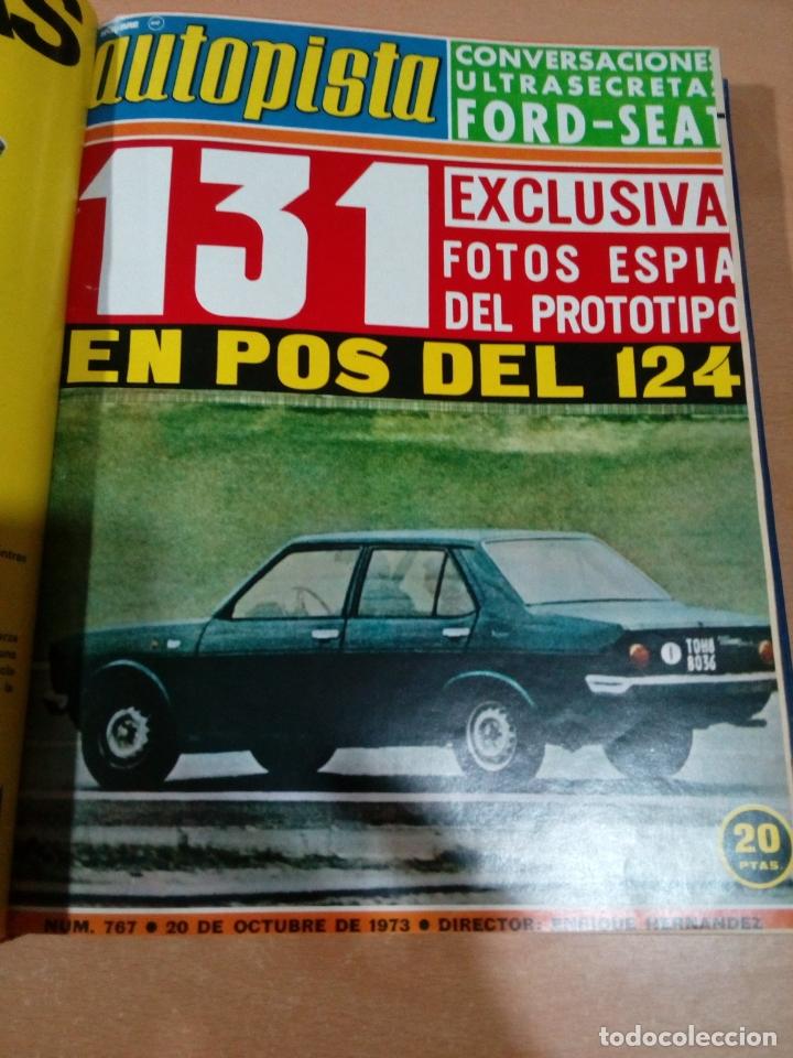 Coleccionismo deportivo: Revista autopista - Lote 18 revistas 1973 encuadernada correlativas - ver fotos - leer - Foto 12 - 175818835
