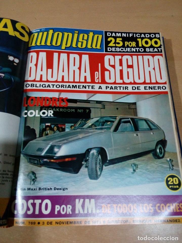 Coleccionismo deportivo: Revista autopista - Lote 18 revistas 1973 encuadernada correlativas - ver fotos - leer - Foto 14 - 175818835