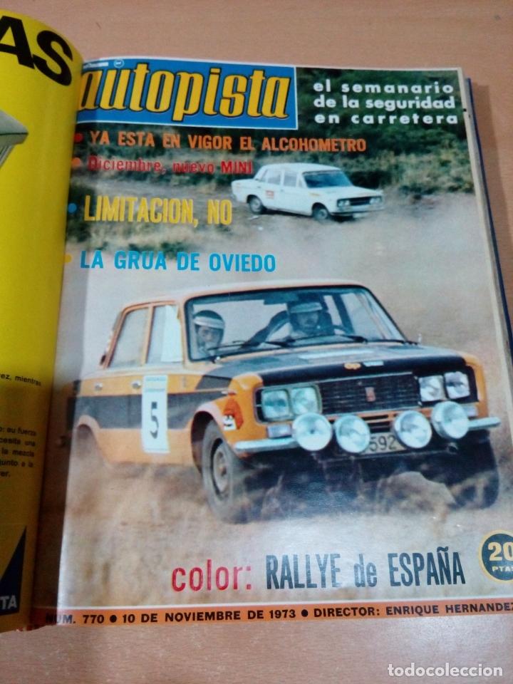 Coleccionismo deportivo: Revista autopista - Lote 18 revistas 1973 encuadernada correlativas - ver fotos - leer - Foto 15 - 175818835