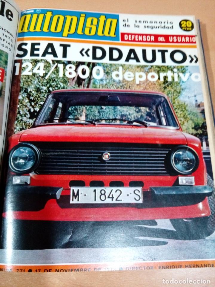 Coleccionismo deportivo: Revista autopista - Lote 18 revistas 1973 encuadernada correlativas - ver fotos - leer - Foto 16 - 175818835