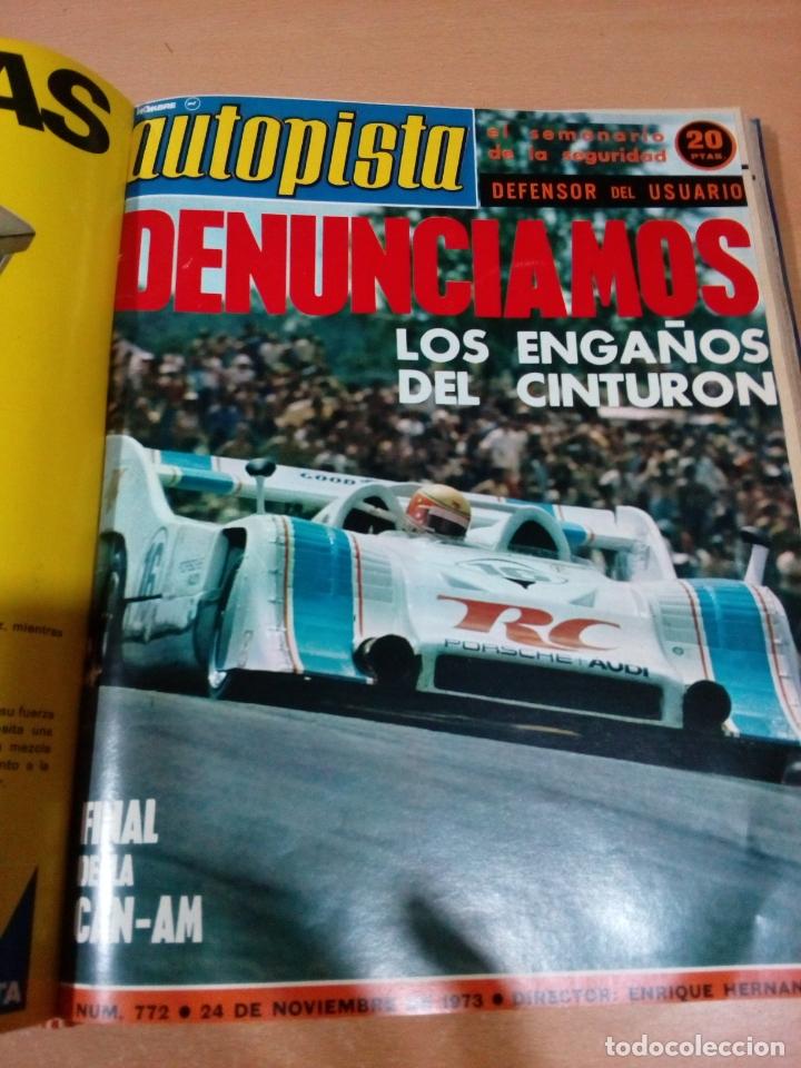 Coleccionismo deportivo: Revista autopista - Lote 18 revistas 1973 encuadernada correlativas - ver fotos - leer - Foto 17 - 175818835