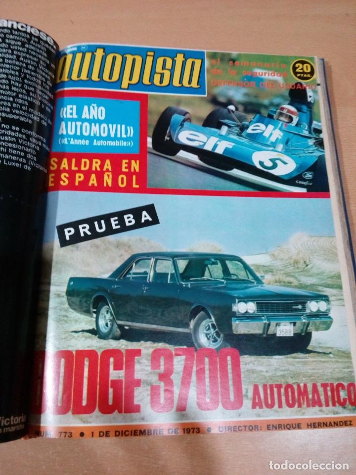 Coleccionismo deportivo: Revista autopista - Lote 18 revistas 1973 encuadernada correlativas - ver fotos - leer - Foto 18 - 175818835