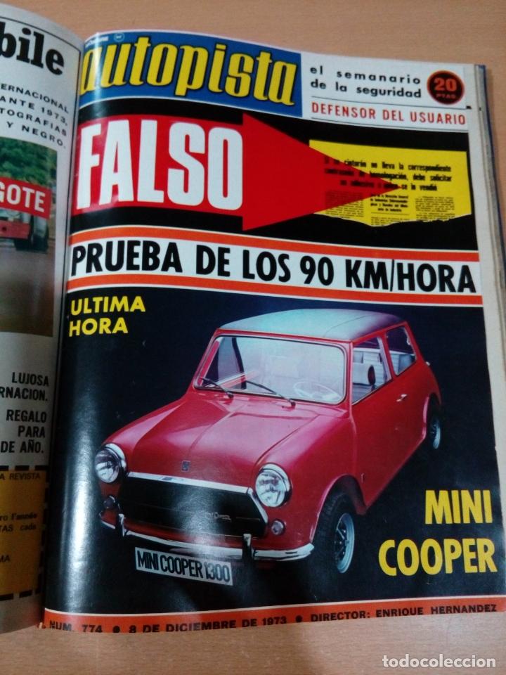 Coleccionismo deportivo: Revista autopista - Lote 18 revistas 1973 encuadernada correlativas - ver fotos - leer - Foto 19 - 175818835