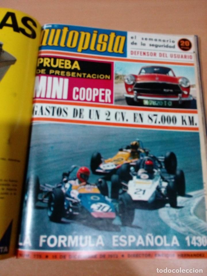 Coleccionismo deportivo: Revista autopista - Lote 18 revistas 1973 encuadernada correlativas - ver fotos - leer - Foto 20 - 175818835
