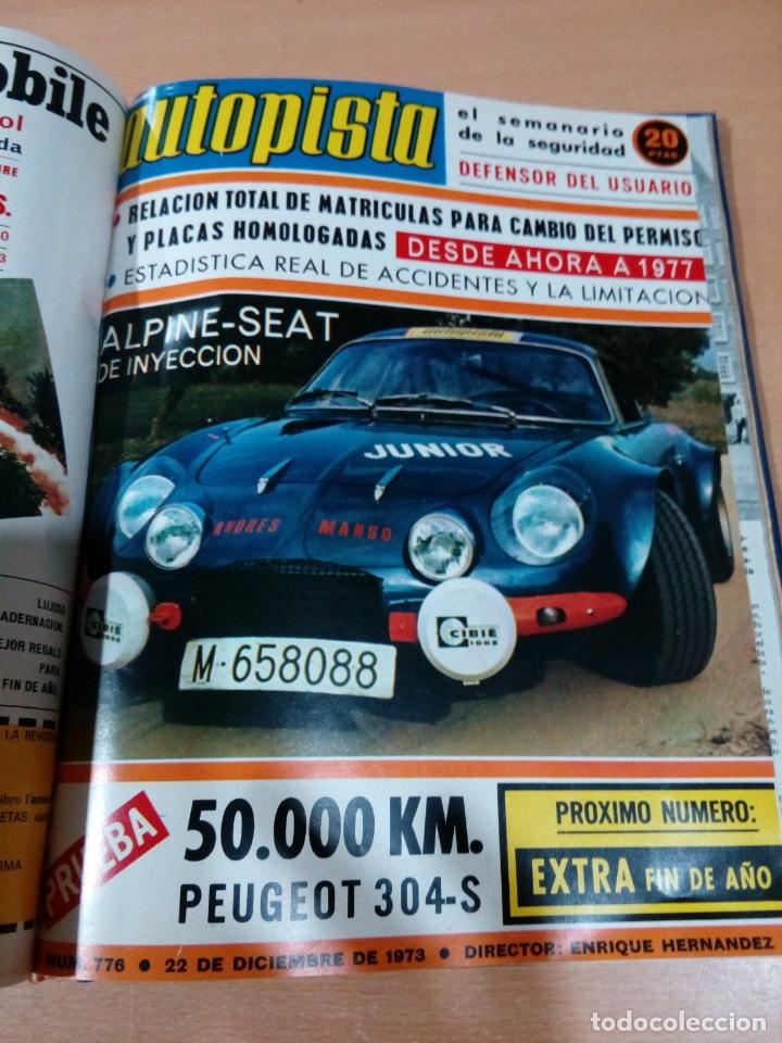 Coleccionismo deportivo: Revista autopista - Lote 18 revistas 1973 encuadernada correlativas - ver fotos - leer - Foto 21 - 175818835