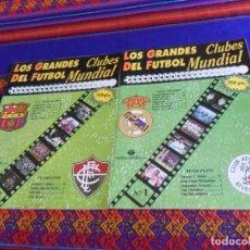 Coleccionismo deportivo: LOS GRANDES CLUBES DEL FÚTBOL MUNDIAL 1 REAL MADRID RIVER PLATE, 2 F.C. BARCELONA FLUMINENSE. 1991.. Lote 176574060