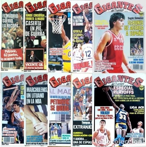 REVISTA GIGANTES DEL BASKET. LOTE DE 10 NUMEROS. AÑO 1989. CON POSTERS. (Coleccionismo Deportivo - Revistas y Periódicos - otros Deportes)