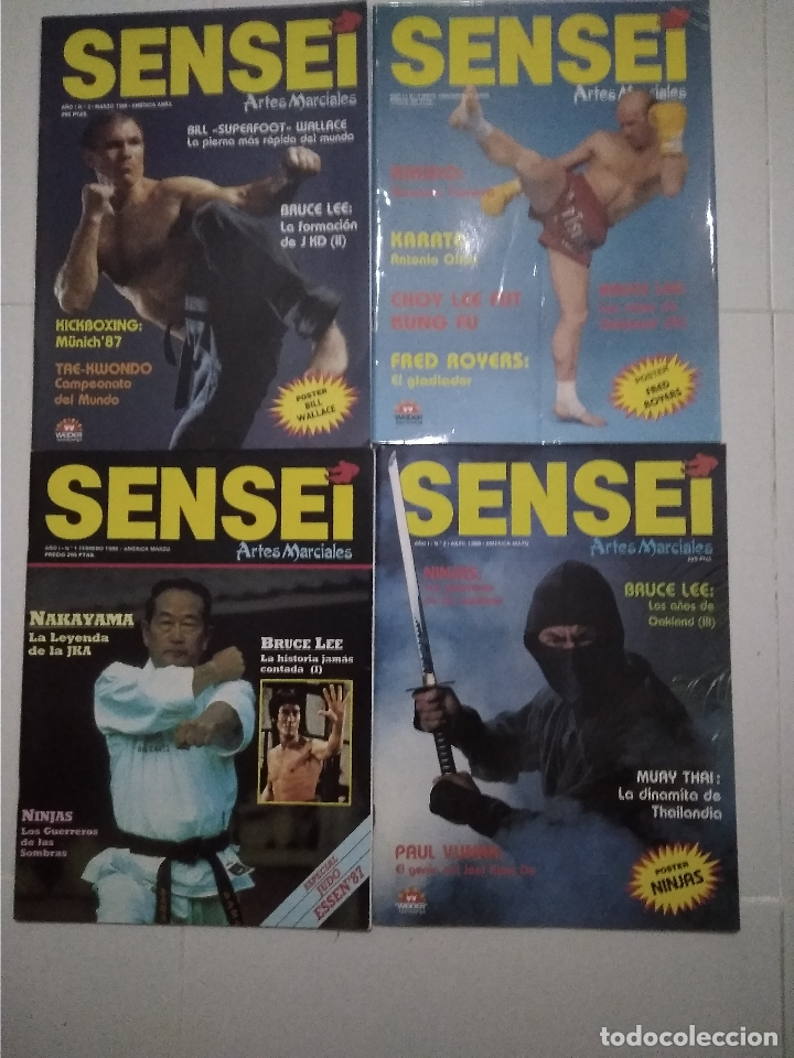 SENSEI - REVISTA ARTES MARCIALES - LOTE 4 PRIMEROS NUMEROS ANTIGUAS (Coleccionismo Deportivo - Revistas y Periódicos - otros Deportes)