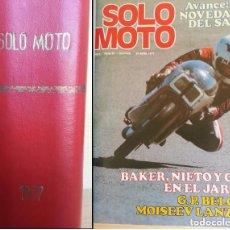 Coleccionismo deportivo: LOTE 18 REVISTAS SOLO MOTO 1977-1978. ENCUADERNADAS. CON PÓSTERS CENTRALES. MOTOCICLISMO. MOTOCROSS. Lote 177578830