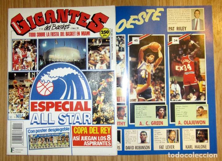 GIGANTES DEL BASKET - Nº 223 - CON POSTER DESPLEGABLE ESPECIAL ALL STAR (Coleccionismo Deportivo - Revistas y Periódicos - otros Deportes)