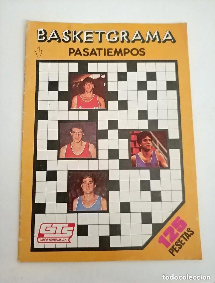 ANTIGUO PASATIEMPOS BASKETGRAMA AÑO 1986 FERNANDO MARTIN ROMAY SOLOZABAL BALONCESTO (Coleccionismo Deportivo - Revistas y Periódicos - otros Deportes)