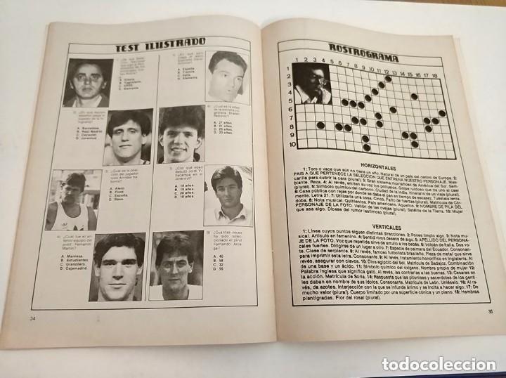 Coleccionismo deportivo: antiguo pasatiempos basketgrama año 1986 fernando martin romay solozabal baloncesto - Foto 4 - 178677188