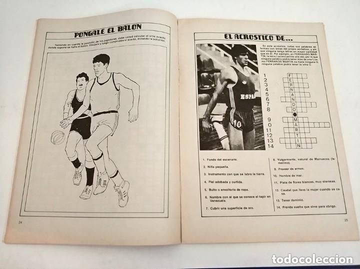 Coleccionismo deportivo: antiguo pasatiempos basketgrama año 1986 fernando martin romay solozabal baloncesto - Foto 5 - 178677188
