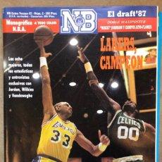 Coleccionismo deportivo: NUEVO BASKET EXTRA VERANO 1987. LAKERS CAMPEÓN, MAXIPOSTER MAGIC JOHNSON. NBA A TODO COLOR. Lote 178684531