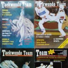 Coleccionismo deportivo: 12 REVISTAS DE ARTES MARCIALES ''TAEKWONDO TEAM'' (1990-1991) Y ''TAEKWONDO''. Lote 179121108