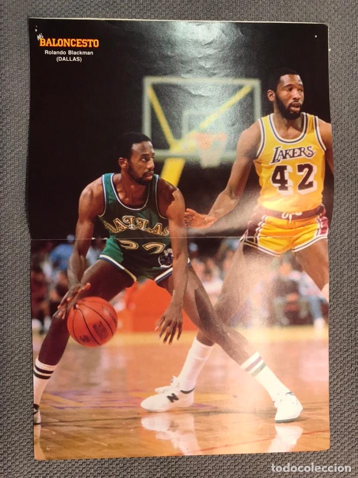 Coleccionismo deportivo: MI BALONCESTO, por Antonio Díaz-Miguel. Edita: Ed. SOMA. No.2, POSTER R. BLACKMAN (a.1985) - Foto 2 - 179203698