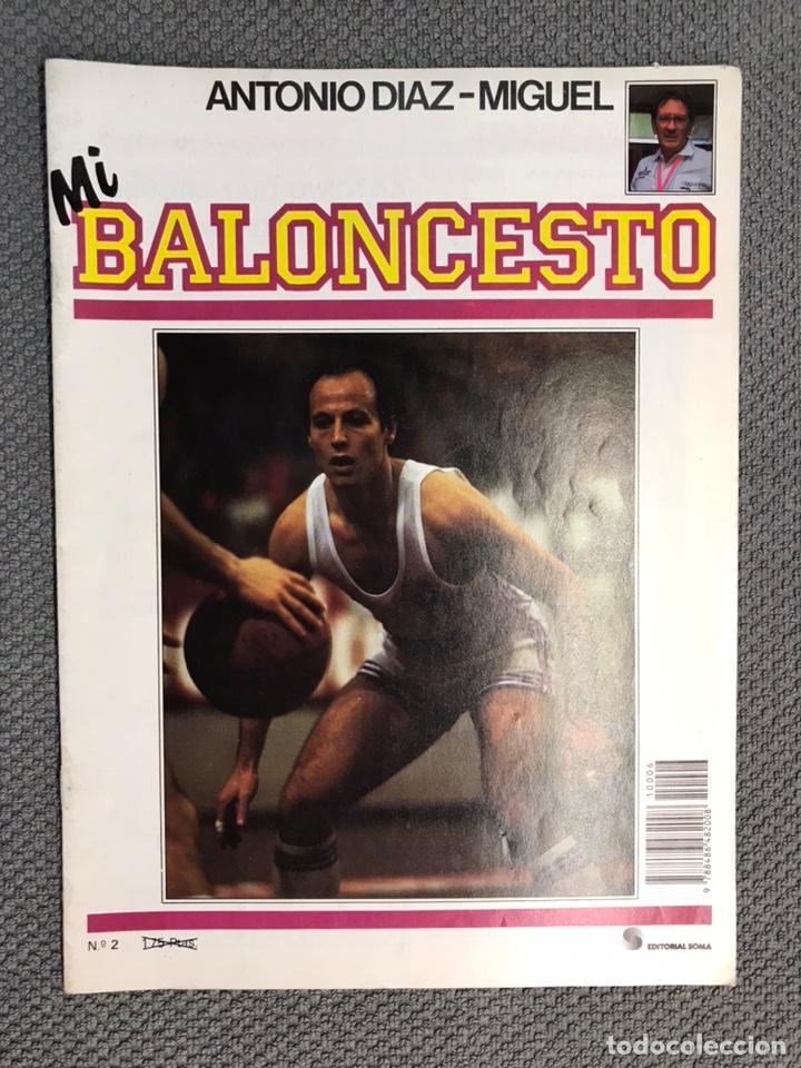 MI BALONCESTO, POR ANTONIO DÍAZ-MIGUEL. EDITA: ED. SOMA. NO.2, POSTER R. BLACKMAN (A.1985) (Coleccionismo Deportivo - Revistas y Periódicos - otros Deportes)